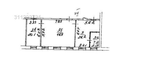 100 кв.м. Блок 4 комнаты. Кабинетная планировка. 4 этаж 6-и этажного а