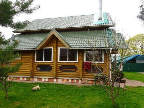 2-х этажный дом из оцилиндрованного бревна в Серпуховском районе, с.Ли