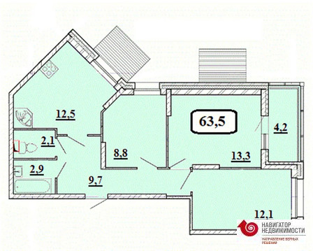 Красногорск, 3-х комнатная квартира, б-р Космонавтов д.д. 11, 6195231 руб.