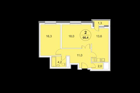 Москва, 1-но комнатная квартира, ул. 2-я Филевская д.4, 9320000 руб.