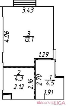 Котельники, 1-но комнатная квартира, Сосновая д.д.2 к.4, 5700000 руб.