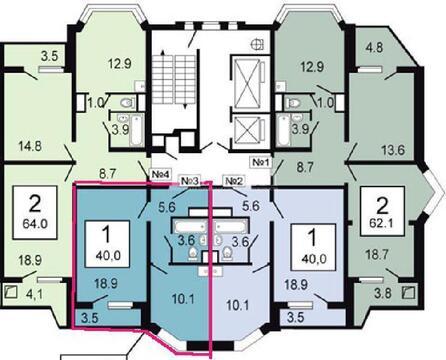 """1-комнатная квартира, 40 кв.м., в ЖК """"Некрасовка"""""""