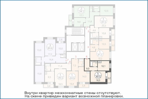 1-комн. квартира 40,9 кв.м. в новом ЖК, дом сдан в эксплуатацию