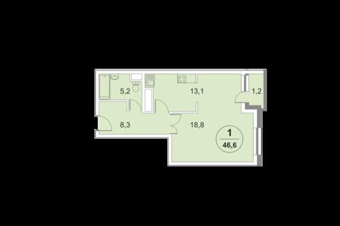 Москва, 2-х комнатная квартира, ул. 2-я Филевская д.4, 11637500 руб.