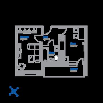 1-комнатная квартира, 37 кв.м.