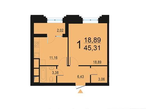 Москва, 1-но комнатная квартира, ул. Берзарина д.28с3, 8744830 руб.