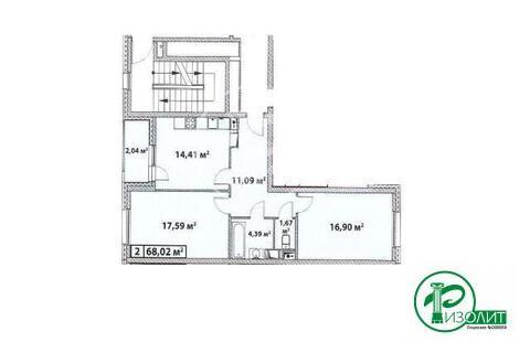 "2-комнатная квартира, 68 кв.м., в ЖК ""Эталон-Сити"""