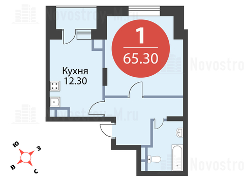 Павловская Слобода, 1-но комнатная квартира, ул. Красная д.д. 9, корп. 47, 6314510 руб.