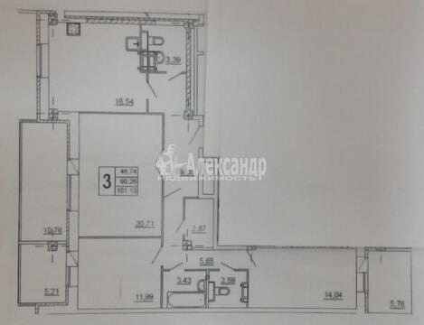 """3-комнатная квартира, 90 кв.м., в ЖК """"Князь Голицын"""""""