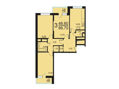 Москва, 3-х комнатная квартира, Внутренний проезд д.8с1, 17450456 руб.