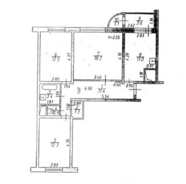 Подольск, 3-х комнатная квартира, генерала Смирнова д.11, 5190000 руб.