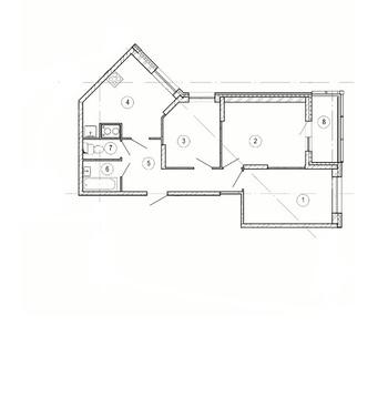 """3-комнатная квартира, 63 кв.м., в ЖК """"Изумрудные Холмы"""""""