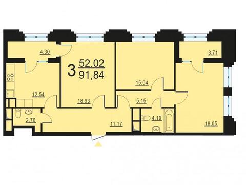 Москва, 3-х комнатная квартира, ул. Берзарина д.28с4, 17921290 руб.