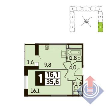 1-комнатная квартира, 36 кв.м., в ЖК Up! Квартал Новое Тушино