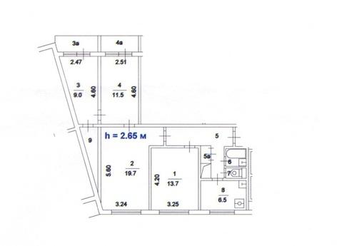 Продаётся 4-х комнатная квартира в Бирюлёво
