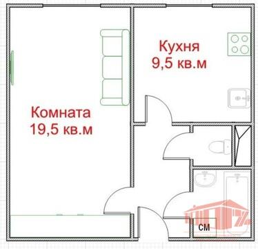 1 ком. квартира Щелково, Пролетарский пр-т, д. 2 - 36 кв.м