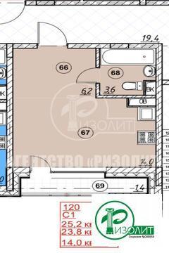 """Предлагаем купить студию в строящемся доме в ЖК """"Андерсен""""."""