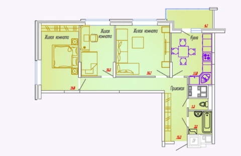 Мытищи, 3-х комнатная квартира, Ярославское ш. д.73, 5578650 руб.