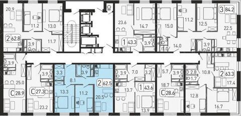 "2-комнатная квартира, 63 кв.м., в ЖК ""Сердце Одинцово"""