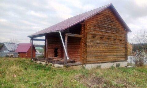 Дом, баня и хоз блок на участке 9 соток в д. Кравцово