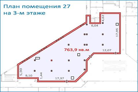 Помещение свободного назначения 763,9 кв.м в новом ТЦ, 6 км от МКАД