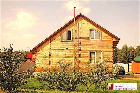 2-этажный дом из бруса на 9 сотках в кп Лукошкино (ж/д ст.Игнатьево)