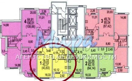 Продается 1-комнатная квартира г.Люберцы, Комсомольский проспект, д.1