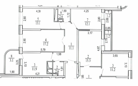3-комнатная квартира, 77 кв.м., в ЖК «Новое Измайлово»