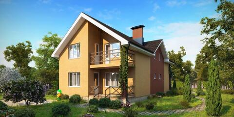 Двухэтажный коттедж проект Амур