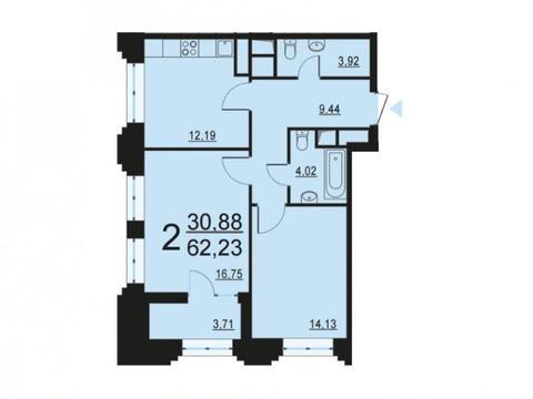 Москва, 2-х комнатная квартира, ул. Берзарина д.28с4, 12387006 руб.