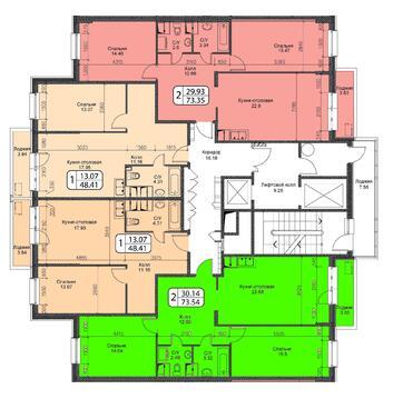 Октябрьский, 2-х комнатная квартира, ул. Ленина д.25, 4200000 руб.