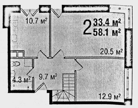 "2-комнатная квартира, 58 кв.м., в ЖК ""Аристово-Митино"""