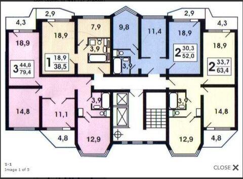 3-комнатная квартира, 79 кв.м., в ЖК «Восточное Бутово»