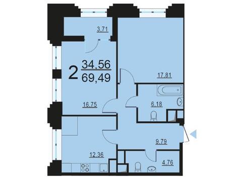 Москва, 2-х комнатная квартира, ул. Берзарина д.28с4, 13406289 руб.