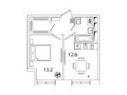 """Продается 1-к. квартира, 37,1 кв.м. в ЖК """"sreda"""""""