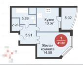 1 комнатная ЖК первый Московский