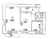 Продается 2-ух комнатная квартира в кирпичном доме