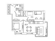 """Продается 2-к. квартира, 67,29 кв.м. в ЖК """"sreda"""""""