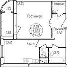 1-комнатная квартира 46 кв.м, Авиационный