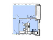 """Продается 1-к. квартира, 48 кв.м. в ЖК """"Парк Легенд"""""""