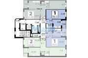 Продается двухкомнатная квартира распашонка, без отделки, общей площад