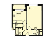 """Продается 1-к. квартира, 44,8 кв.м. в ЖК """"Парк Легенд"""""""