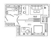 """Продается 1-к. квартира, 44,12 кв.м. в ЖК """"sreda"""""""