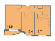 """Продается 2-к. квартира, 56,5 кв.м. в ЖК """"Кварталы 21/19"""""""