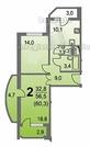2 комнатная квартира в Люберцах