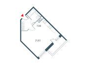 """Продается 1-к. квартира, 40.54 кв.м. ЖК """"Прайм Тайм"""""""