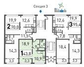 Химки, 1-но комнатная квартира, мкр. Новогорск д.ул. Ивановская, 7Б, 4001130 руб.