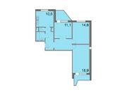 """Продается 3-к. квартира, 78 кв.м. в ЖК """"Кварталы 21/19"""""""