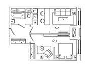 """Продается 1-к. квартира, 42,34 кв.м. в ЖК """"sreda"""""""