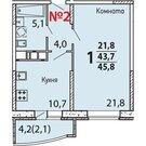 Мытищи, 1-но комнатная квартира, Совхозная д.20, 3196000 руб.